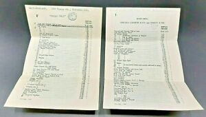 Vintage Price lists for Chelsea Gardens, Dimity & Fairy Dell-Bone China, Toronto