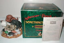 "Anheuser Busch ""Something's Brewing"" Figurine 1994 Budweiser"