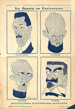 Caricature Politique Anti-Boches Austria-Hungary Österreich-Ungarn 1918 WWI