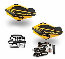 Powermadd Sentinel LED Handguards Ski Doo Yellow Black Mount Kit Snowmobile