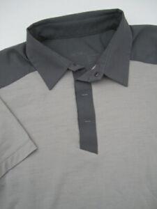 Mens Large Arc'teryx A2B Polo Shirt gray wool blend