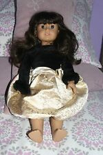 American Girl Doll Just Like Me/Dark long brown hair with brown eyes-EXCELL