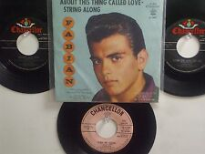 LOT OF 4 ' FABIAN ' HIT 45's+1PS [About This Thing Called Love]  THE 50's&60's!