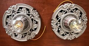 Pair Available, Antique Cast Iron, Art Deco, Art Nouveau Ceiling Porch Light