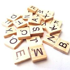 30 x Wooden Scrabble Alphabet Letter Tiles Wood Art Craft Game Cardmaking New
