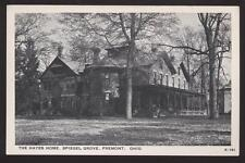 Postcard FREMONT OH Hayes Home Spiegel Grove 1940's
