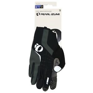 Pearl Izumi Cycling Gloves S Men CYCLONE Cool Weather Black Bicycle Gel New