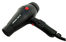 TWIN TURBO 3200 CERAMIC IONIC Black Hair Dryer 2 Nozzles Made in Italy by Parlux