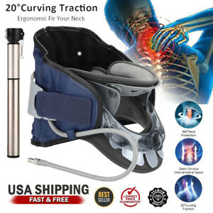 Cervical Neck Traction Device Air Inflatable Collar Neck Stretcher Support Brace