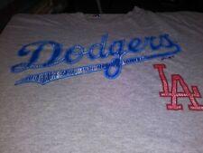 Los Angeles Dodgers Baseball MLB Gray Short Sleeve T-shirt Majestic Mens XL Used