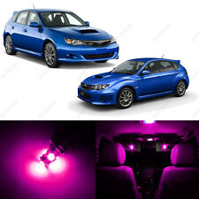6 x Pink/Purple LED Interior Lights Package For 2004-2013 Subaru Impreza WRX STI