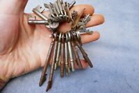 Antique Bunch Of 26 Old keys-Chest Trunk Cabinet Desk Draws Padlock Locker