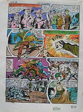 JACK KIRBY Joe Simon CAPTAIN AMERICA #8 pg 20 HAND COLORED ART Theakston 1989 Comic Art