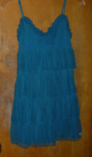 PINK Victoria's Secret Teal Blue Lace Nightgown Size Small w/ Adjustable Straps