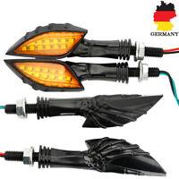 4x15LED Universal Motorrad Skull Blinkleuchte Mini-Blinker für Quad Roller Lampe