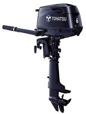 NEW TOHATSU 6HP Long Shaft, Tiller Control 4-Stroke Outboard Ext. 12L Tank