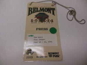 1994 BELMONT STAKES HORSERACING CHAMPIONSHIPS RARE PRESS PASS TABASCO CAT WINS!
