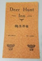 Deer Hunt Inn MENU Vintage 1940s 20222 John R ST Detroit Michigan