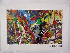 Phil Pierre - BUBBLE GUM 442 - new original abstract acrylic painting on board