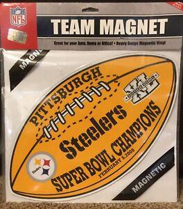 Pittsburgh Steelers Super Bowl XL Champions Large Magnet NFL Roethlisberger Ward