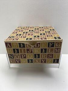 28 Wood Embossed German ABC Blocks Uncle Goose Blocks **BRAND NEW**