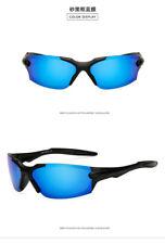 Hd Polarized Sunglasses Men Rimless Driving Blue Glasses Uv400 Sports Eyewear