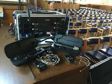 4 radio mic head set system by line 6 c/w active aerial system