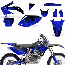Decal Graphic Kit Honda CRF 450 R Dirt Bike Sticker Backgrounds 05-08 ICE BLUE