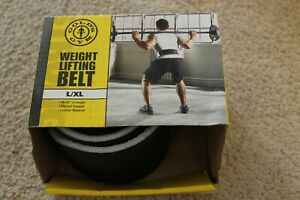 """Gold's Gym Weight Lifting Black Leather Belt L / XL Large / Xlarge 34"""" - 42"""""""