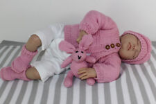 PRINTED KNITTING INSTRUCTIONS-NEW BABY MATINEE COAT BOOTIES  HAT AND BUNNY SET