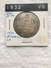 1932 CANADIAN 50 CENT COIN-RATED VG