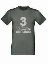 Daniel Ricciardo F1 3 COCHE Camiseta Logo Plata Red Bull talla a niños a 5xl