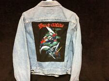 Vintage 1980s LEVIS 70506 Acid Wash 46 R Denim Jacket w/ GREAT WHITE Back Patch!