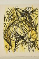 Fernand Schlegel (1920-2002) Composition abstraite au pastel vers 1950 signé