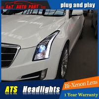 13-18 For Cadillac ATS Headlights assembly Upgrade xenon Lens Projector LED DRL