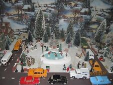 """TRAIN VILLAGE HOUSE NEW """" AFTER SCHOOL ICE SKATING HOCKEY """" + DEPT 56/LEMAX info"""