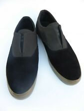 Dylan Rieder HUF shoes Black Suede Leather & Charcoal Grey Skate Slip on size 9