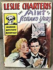 Leslie Charteris / THE SAINT VS SCOTLAND YARD First Edition 1945
