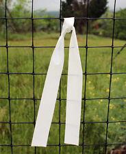 """Deer Fence Warning Banner White 1"""" x 24"""" - 50 pk"""