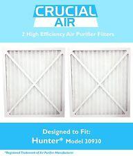 2 Hunter 30930 Air Purifier Filter Fits 30200, 30201, 30205, 30250 30253 & 30255