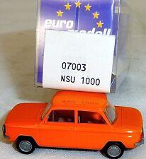 NSU TT Camión amarillo anaranjado Imu / EUROMODELL 07003 H0 1/87 emb.orig # LL 1