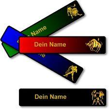 Sternzeichen Magnet Schild dein Namen Wunschtext für Magnettafel Kühlschrank etc