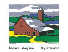 ROY LICHTENSTEIN - Red Barn II 1969 Serigraph Art Print Poster 27.5x35.5