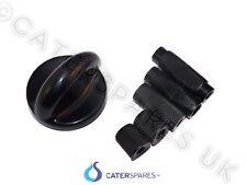 Universal Gas Tap Black Control Cooker Knob Fits 4.7Mm 6Mm 8Mm Shafts Parts
