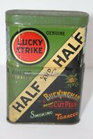 Vintage Lucky Strike Half & Half Pipes and Cigarettes Tin