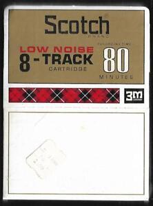 SCOTCH 8-Track / 8-Spur Tonband Leerkassette (OVP) Low Noise 80 Min 3M
