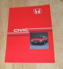 Honda Civic CRX Coupe Rare Sales Brochure 1985