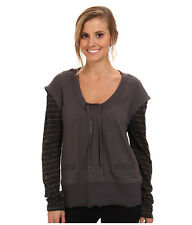 New Lole Malasa Scoop Neck Top Long sleeve Grey Medium