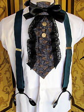 Mens Green Classic Suspenders With Gold Hardware One Size GERMANY