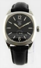 TAG HEUER MONZA WR2110.FC6164 MENS AUTOMATIC  BLACK LEATHER WATCH BARGAIN